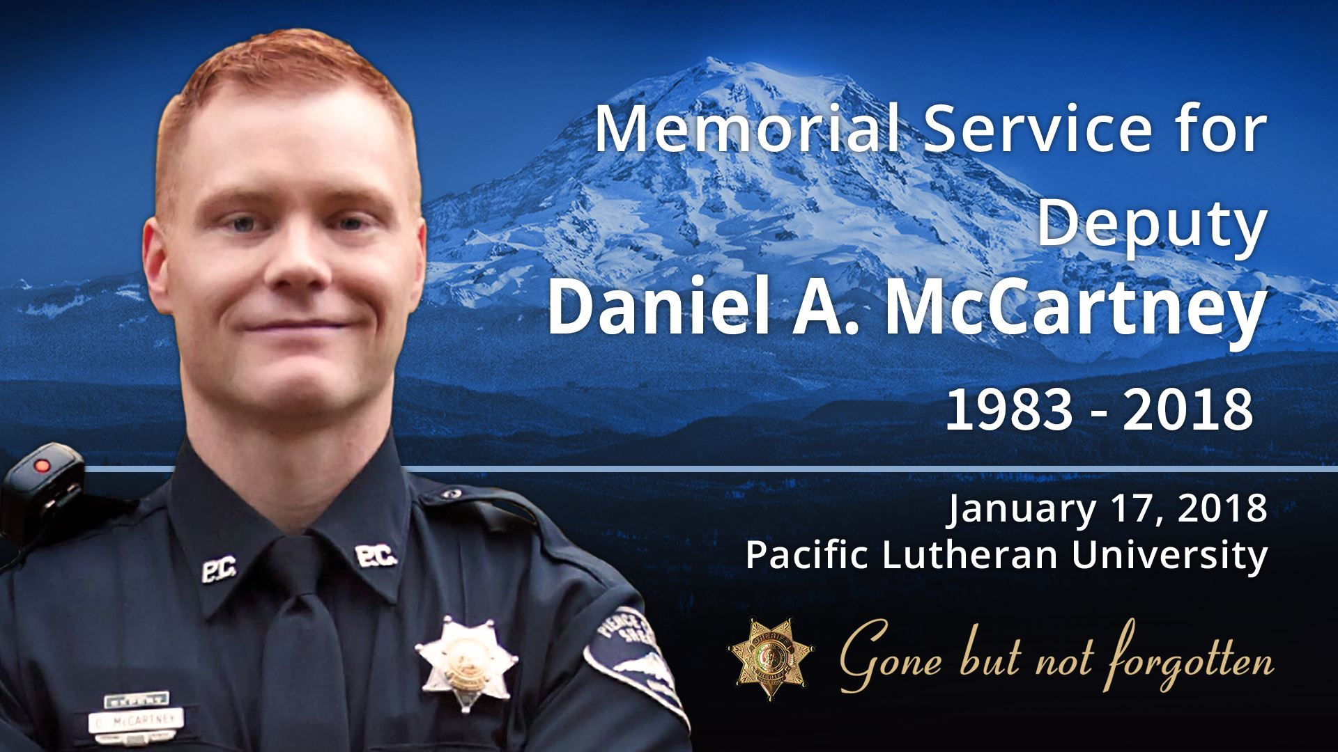 Memorial for Deputy McCartney